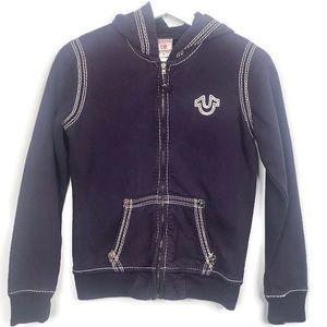 True Religion Girls Purple Hoodie Size XL